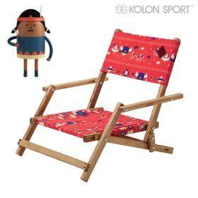 """코오롱스포츠 X 디자인그룹 SML """"T-METI RETRO A"""" 시리즈! 귀여운 캐릭터와 톡톡 튀는 레드 컬러가 특별한 #캠핑 의자 #엘롯데 #코오롱스포츠 ##T-METI #DECK_CHAIR #kolonsport #deckchair #camping"""