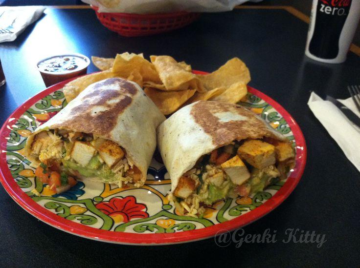 Mucho Mas La porte indiana vegan fresh burrito