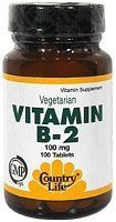 Country Life Vitamin B-2 100 Mg, 100-Count by Country Life. $7.24. Dietary supplement