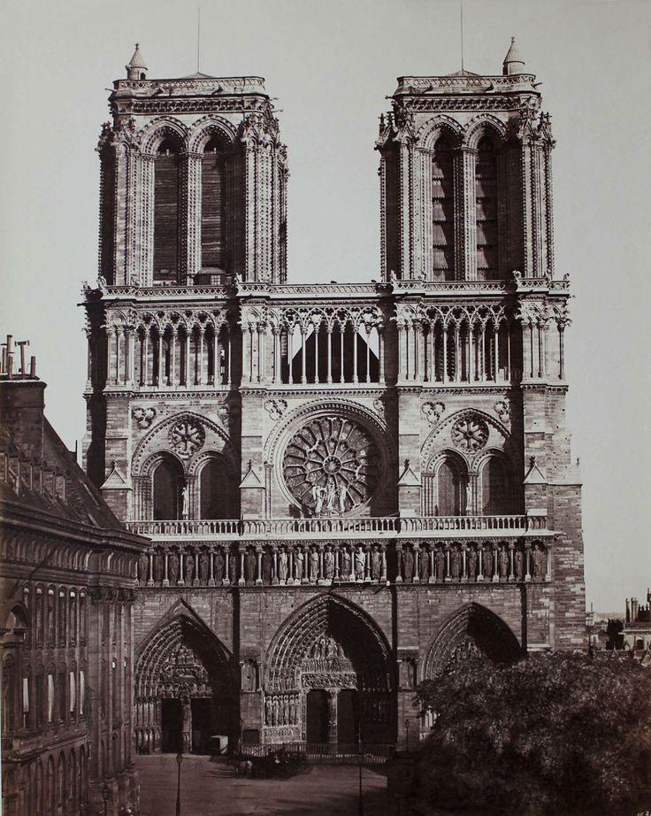 Edouard Baldus -   Notre Dame, Facade Principale, Paris  1857