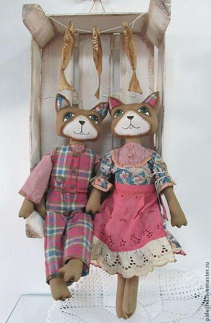 Игрушки животные, ручной работы. Ярмарка Мастеров - ручная работа Коты чердачные розовые. Handmade.