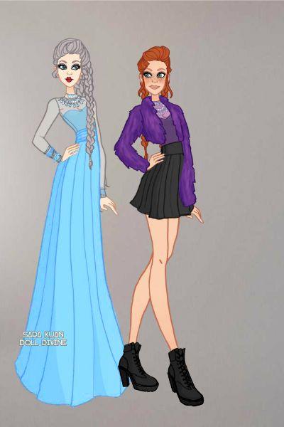 Elsa e Anna- Frozen, filme da Disney.