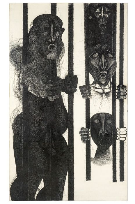 Dumile Feni, The Prisoner, 1971