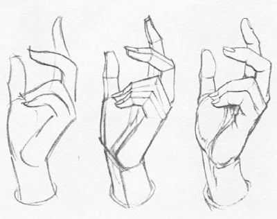 The teachers of the Famous Artist's School correspondence course were good at drawing hands, especially Al Dorne, who I believe did these examples. They had a useful three-step process for approachin