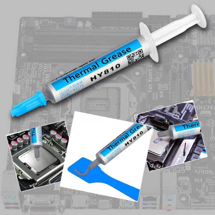 For 2G HY810-OP2G Universal Thermal Grease Syringe Thermal Grease Silver CPU Chip Heatsink Paste with A Plastic Tool