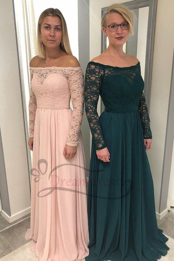 Long Sleeves Bridesmaid Dresses 2019 Long Bridesmaid Dresses In Pin Long Sleeve Bridesmaid Dress Hunter Green Bridesmaid Dress Lace Wedding Dress With Sleeves