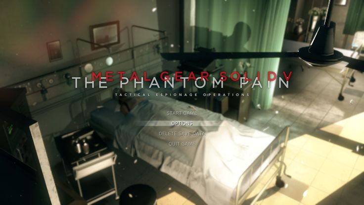 [MGSV:TPP] Did anyone ever notice that the initial title screen had Ishmael hiding behind the green curtain? #MetalGearSolid #mgs #MGSV #MetalGear #Konami #cosplay #PS4 #game #MGSVTPP