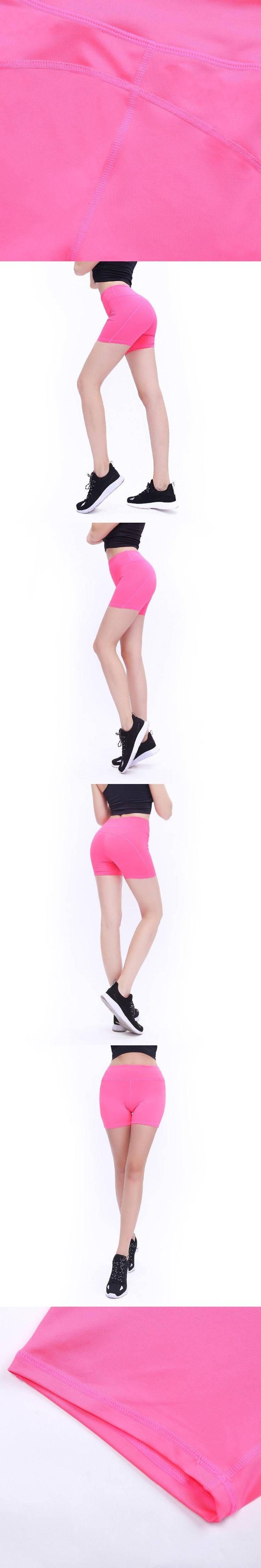 Women Summer Pink Gymming Shorts 2017 Fashion Women's Sporting Cool Adventure Time Short Fitness Workout Shorts Active Bottoms