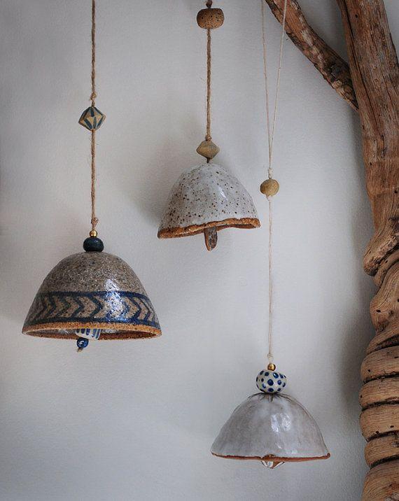 Wheel Thrown Ceramic Bell Hand Painted by LiquoriceMoonStudios                                                                                                                                                                                 Más