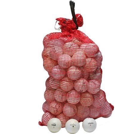 Golf Balls Mix of Brands White 96-Balls with Onion Bag - Golf Balls