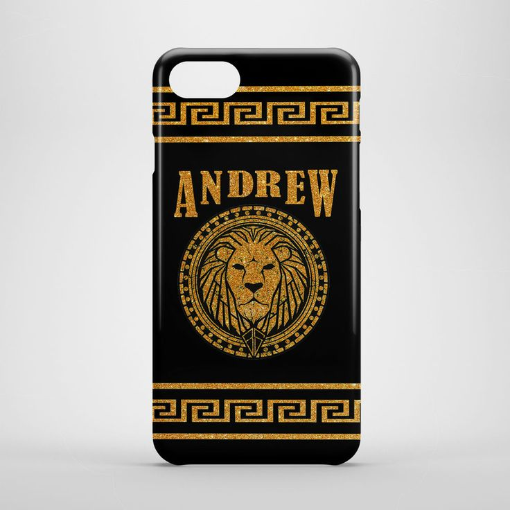 Personalised YOUR NAME iPhone 4 5s 6 6s 7 Plus case Gold, Custom case for Mens