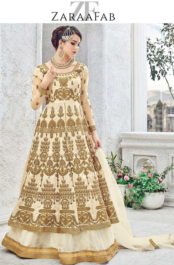 Buy cream color designer party wear salwar suit Pakistani salwar suits, latest salwar kameez designs at best rates from zaraafab.co.uk . We offer exquisite indian collection of semi stitiched indian wedding outfit wedding salwar kameez online.  #bollywooddress #indiandress #salwarsuit #designerwear #designersalwarkameez #womensuit #onlineshopping #partywear