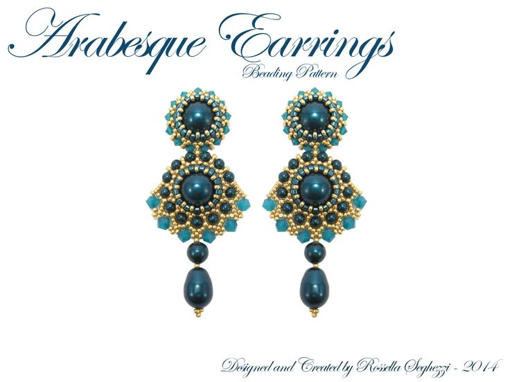 Beading Pattern Arabesque Earrings Pdf file Only for by RossellaS
