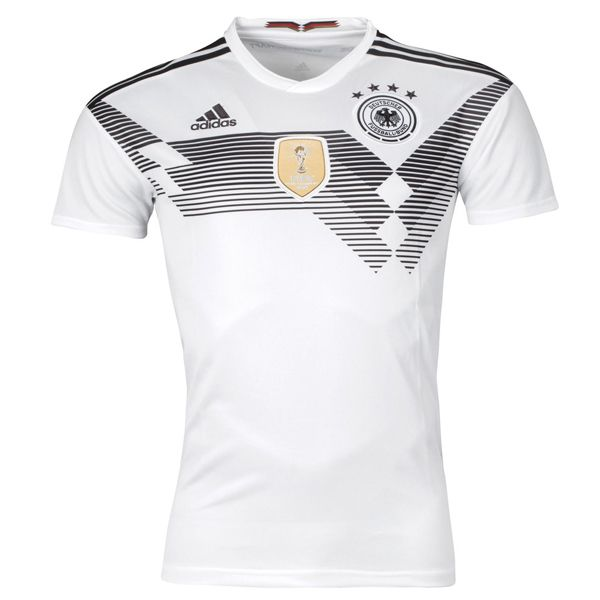 Germany World Cup Home Soccer Jersey 2018 This is the Germany 2018 World Cup Home Football Shirt. Traditional and classy, stand out on the pitch or in the stands with the Germany 2018 Home S/S Replica Football Shirt, White and Black. Made by adidas from polyester, the performance Climalite fabric is at the heart of […]