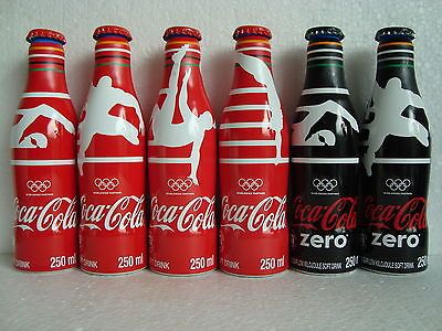"Rare Coca Cola ""OLYMPIC RIO - BRAZIL 2016"" Alu Bottle Set SOUTH AFRICA 2016"
