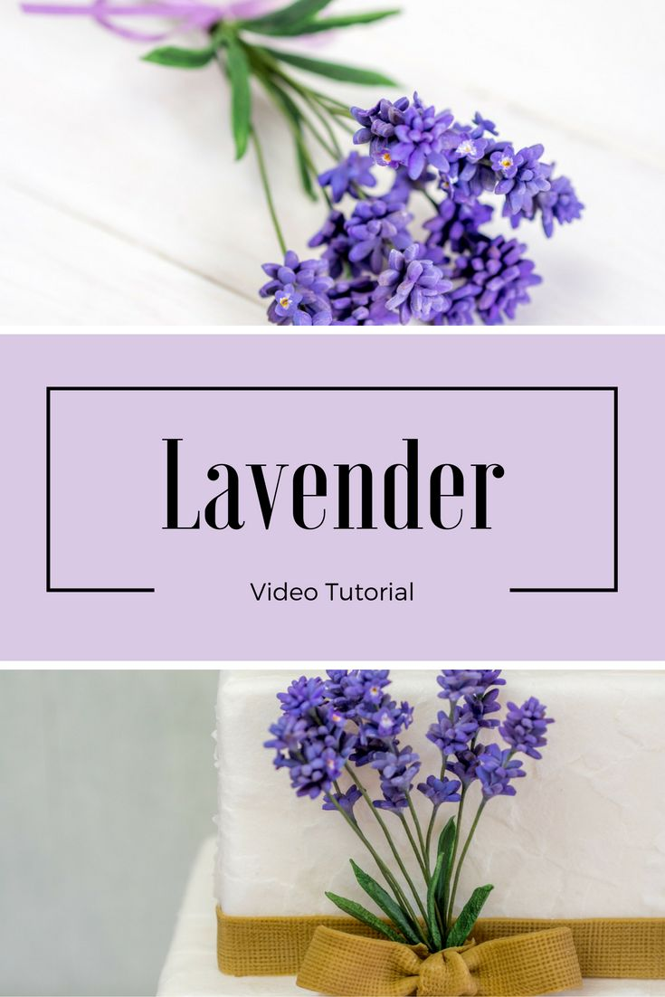 Lavender Gum Paste Tutorial Lavendel aus Blütenpaste Anleitung