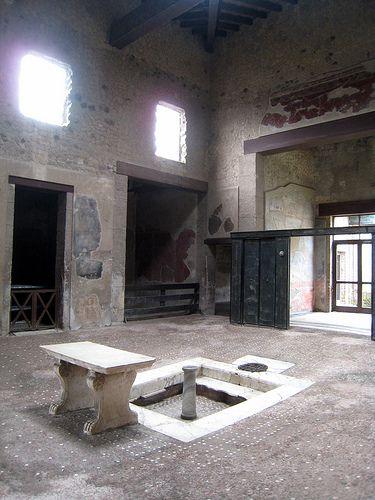 Atrium of a Roman house; Pompeii/Herculaneum