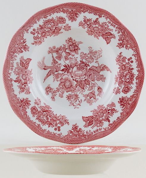 Wedgwood and Co Asiatic Pheasants pink Dessert or Small Soup Plate c1970s