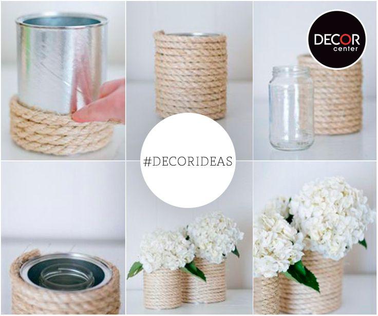 hazlo t misma crea un lindo florero reciclando tus envases de vidrio y latas