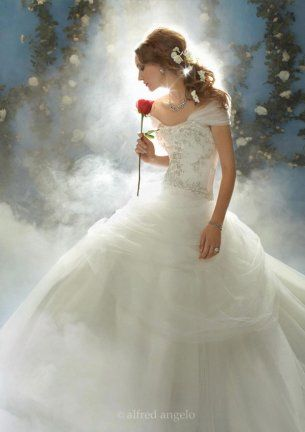 23 Absolutely Beautiful Disney's Fairy Tale Wedding Dresses Love this!! Belle is my favorite princess!