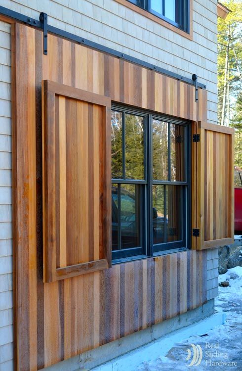 41 best gates images on pinterest barn barns and door entry - Exterior wooden shutters for windows ...
