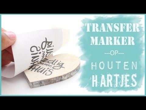Met Transfermarker teksten op houten hartjes overbrengen - YouTube