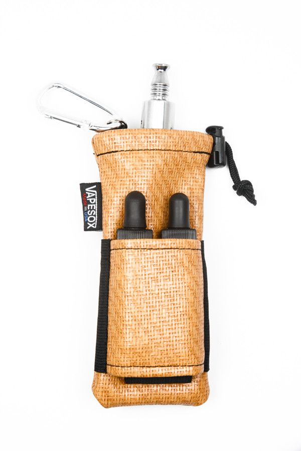 Vapesox-VS 4 mod and vape holder in bamboo skin. Holds 2 mods and 2 juices.