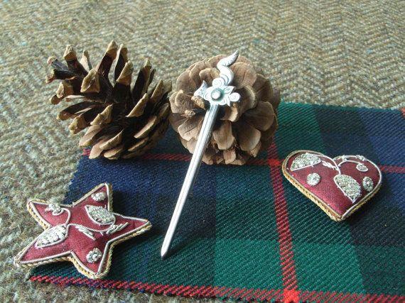 Silver Scottish Kilt Pin  Maeshowe Dragon by CallumKiltsJewellery