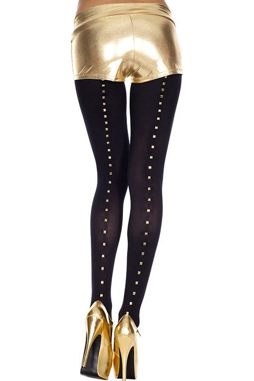 #MusicLegs   https://www.fifty-6.com/en/catalog/clothing/music-legs/hosiery/pantyhose-91 Cod.: ml37001 #pantyhose   #studs   #backseam   #spandex   opaque tights Color: black Size: one size