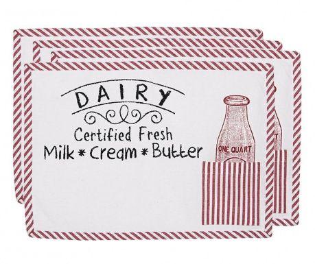 Sada 4 prostírání Dairy 33x48 cm