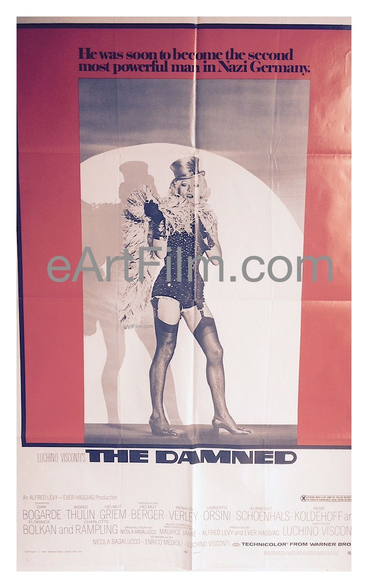 Visconti's The Damned 1969 27x41 Original RARE X Rated One Sheet