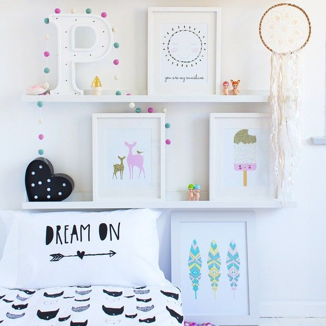 Prints, pillow slip and felt ball garland available at www.toucanonline.com  styling and photography by @concretehoney x