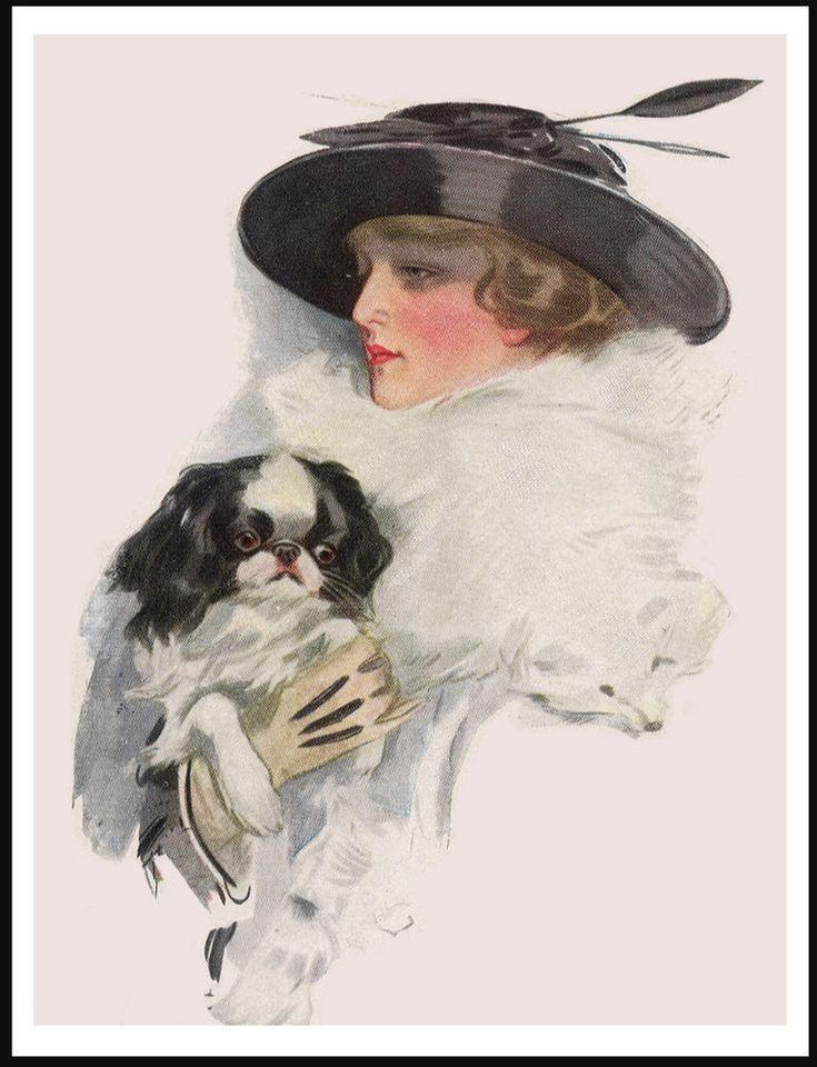 Дама с собачкой в картинках