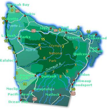Map Of Alaska And Washington State.Town And Road Map Of Olympic Peninsula Washington State Showing