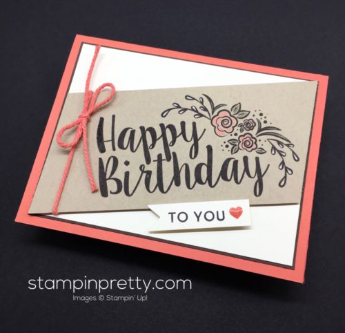 Big on Birthdays birthday card created by Mary Fish, Stampin' Up! Demonstrator.  1000+ StampinUp & SUO card ideas.  Read more https://stampinpretty.com/2017/02/case-catty-pals-blog-hop.html