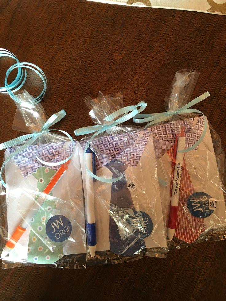 Gift bags for JW elders.