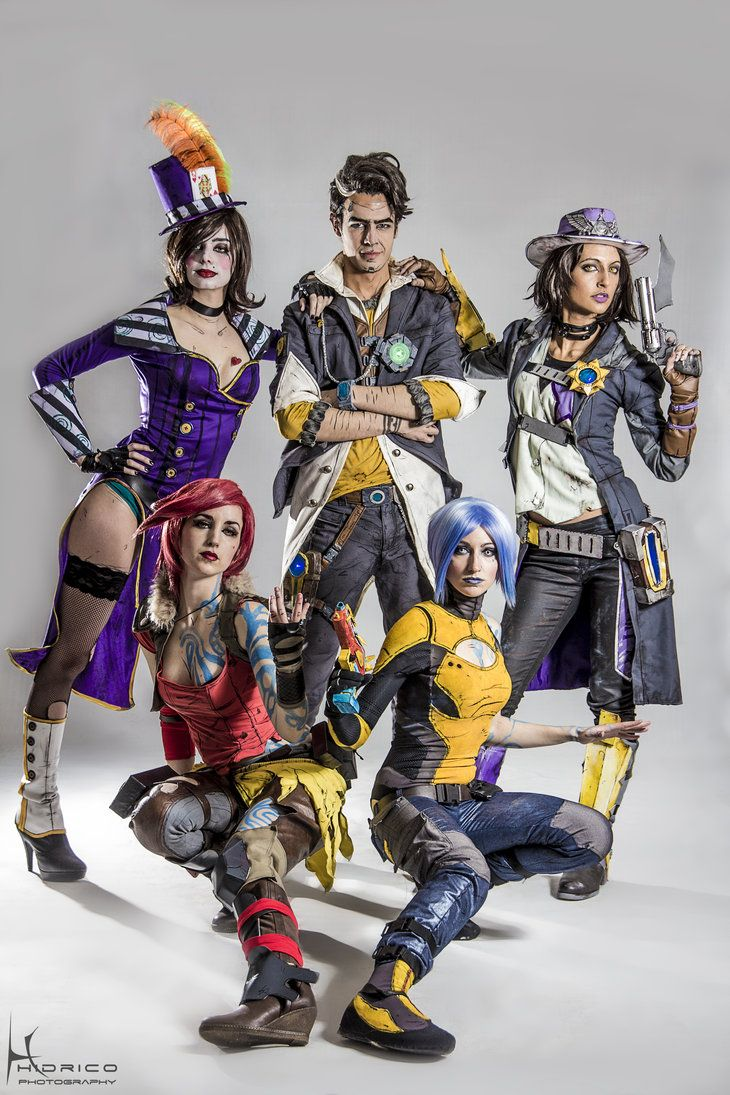 videogame borderlands characters rear to front left to