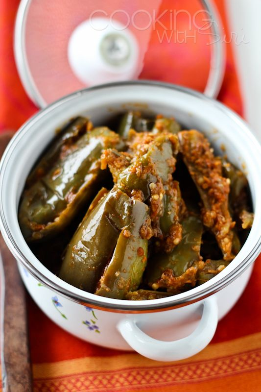 My mother's popular #recipe | Eggplants Stuffed with a Spice Paste. Grab the recipe here ==> http://www.cookingwithsiri.com/2012/02/ammas-recipes-eggplants-stuffed-with.html #vegan