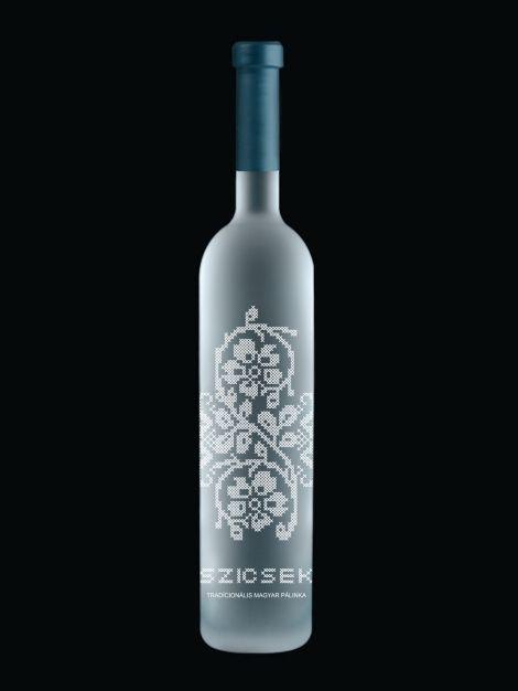 Szicsek brandy packaging by András Szőrös, via Behance