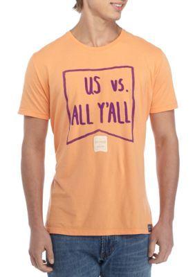 Saturday Down South Men's Short Sleeve All Y'all Tee - Melon - 2Xl