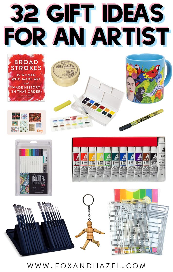 32 fantastic & thoughtful gift ideas for an artist | gifts | ideas