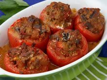 Gevulde tomaten met gehakt