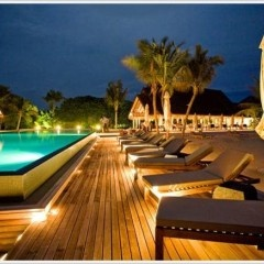 Luxurious travel  destination for wedding couple