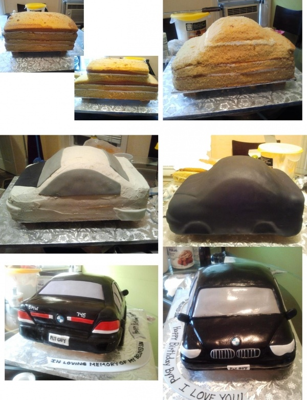 BMW Car cake - way beyond me but good initial basics for a beginner like me.