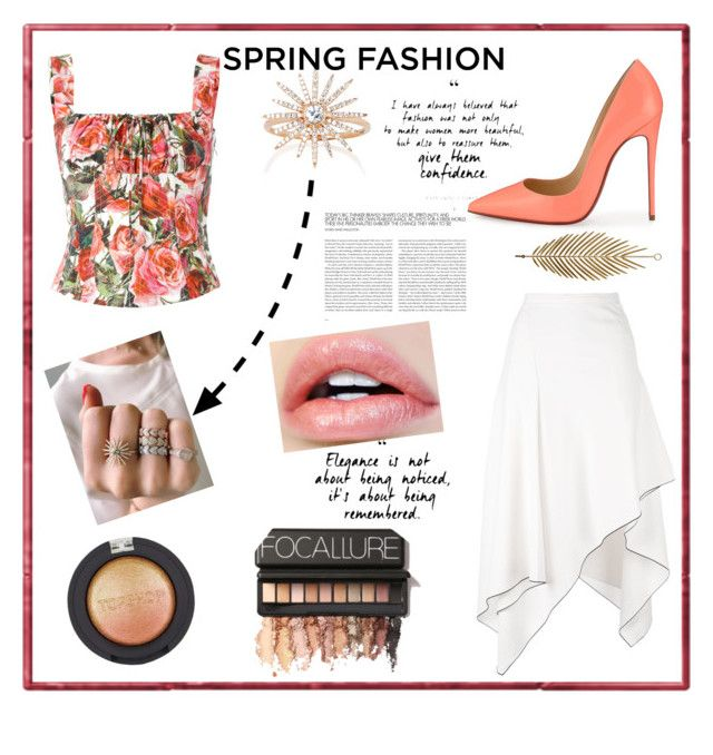 """""""Spring into Summer"""" by spookie1 on Polyvore featuring Proenza Schouler, Christian Louboutin, EF Collection, Topshop and Dolce&Gabbana"""
