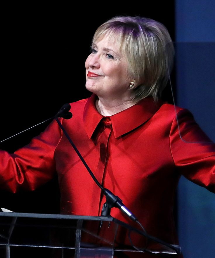 Hillary Clinton Takes A Break From Saving The World To Cut Bangs+#refinery29
