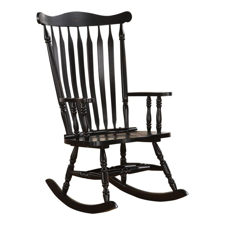 Monarch Specialties BLACK OAK TRADITIONAL ROCKING CHAIR