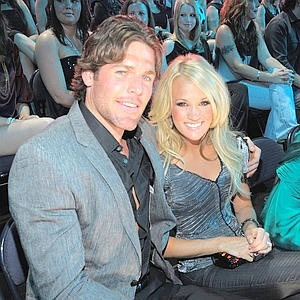 mike fisher  and carrie underwood<3