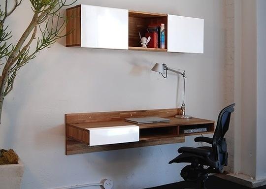 More malm ikea hack idea escritorio pinterest for Lax wall mounted desk