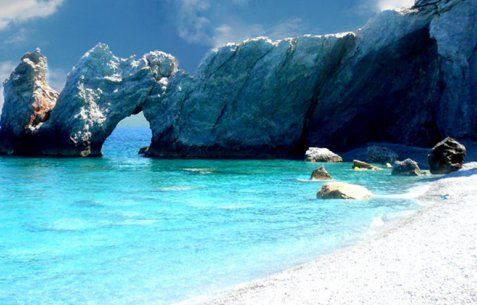 Lalaria  beach, Skiathos island, Greece